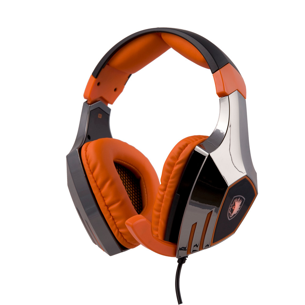 ФОТО 100% Original Sades A60 alloy Stereo 7.1 Surround Pro Gaming Headset USB Headband Headphone PC with flashing light #ET