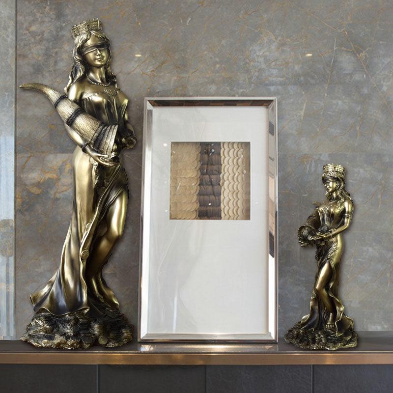 32cm Sandstone Goddess of Wealth Statue Home Decor Wealth Goddess Figurines Gift