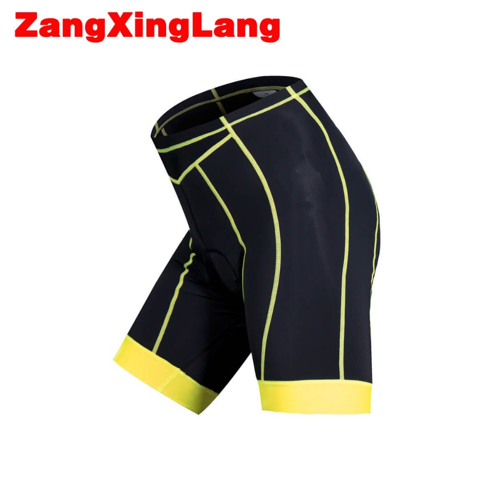 Zangxinglang Mens 3D MTB Bike Padded Cycling Shorts with Italian Injected Power Band Free Shipping