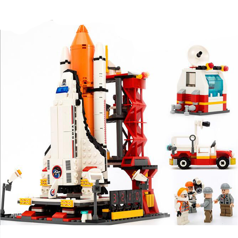 GUDI 679pcs City Spaceport Space Shuttle Blocks Bricks Building Block Sets Classic Toys For Kids Compatible with Legoe decool 3114 city creator 3in1 vehicle transporter building block 264pcs diy educational toys for children compatible legoe