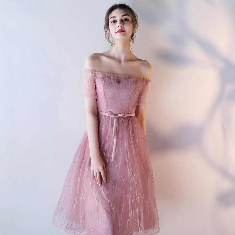 pink Genou A F Nouvelle Mariage Pink pink pink gray Haute Slim Parti De Bal E gray Soirée gray Pageant pink D D Le Arrivée Élégant Sexy B C F gray C Robe E Longueur Taille B Femmes Off A gray Épaule Robes pink gray Pour OPiZkXu