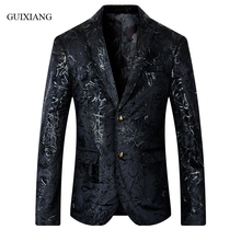 2017 new autumn and winter style men boutique blazers Euramerican fashion casual slim men's flower suit jacket large size M-5XL