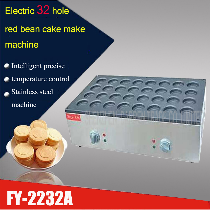 1PC  FY-2232A Electric 32 Hole Red  Bean Machine,bean Cake Maker,bean Cake Oven| Beans Cooker, Care Grill