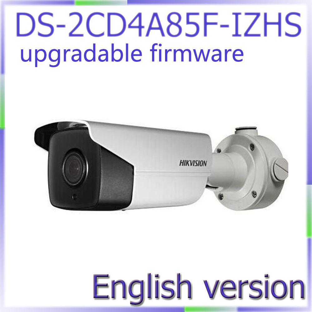Free shipping English version DS-2CD4A85F-IZHS 4K smart bullet cctv camera POE Motorized lens with heater, smart focus 50m IR qhy5l ii c imager guider cameras with free a 8mm cctv lens
