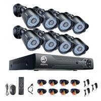 Jooan Survival Kit 8 каналов 8CH 1080N HD TVI DVR камера видеонаблюдения комплект шт. 8 шт. камера 720 P Крытый Открытый Инфракрасная Водонепроницаемая камера