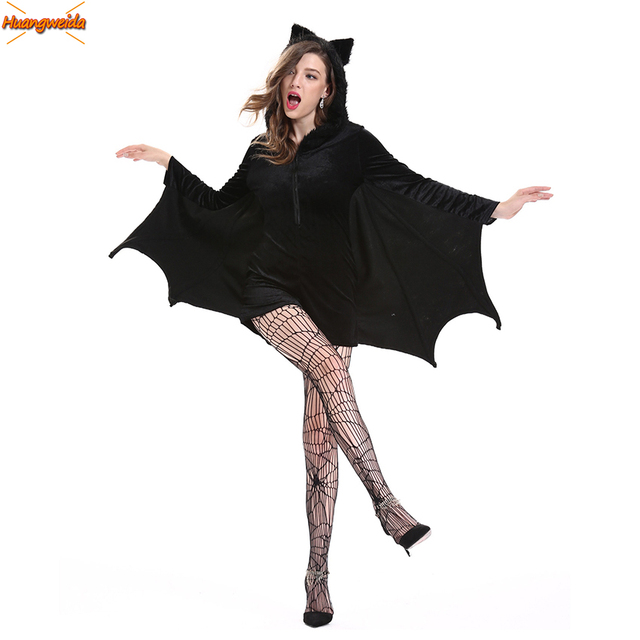 Batman Costumes Adult Sexy Women Dress Carnival Disfraz Mujer Halloween Costume for Women Fancy Party Dress Cosplay Nightclub