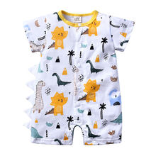 Cartoon Baby Rompers Summer Newborn Baby Girl Clothes 100% Cotton Short Sleeve Toddler Romper 3-24 months Infant Costume(China)
