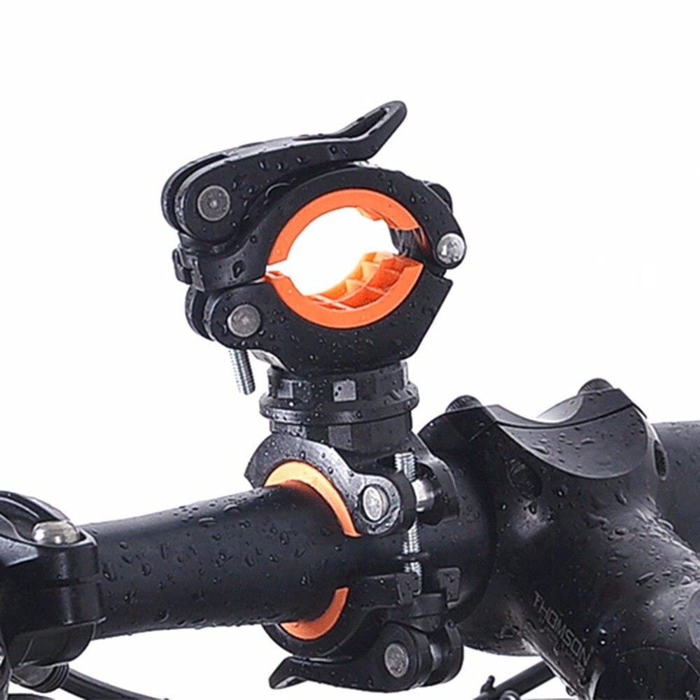 New 360 Degree Rotation Bike LED Flashlight Mount Holder Double Holder Front Flashlight Pump Handlebar Holder Bicycle Accessory