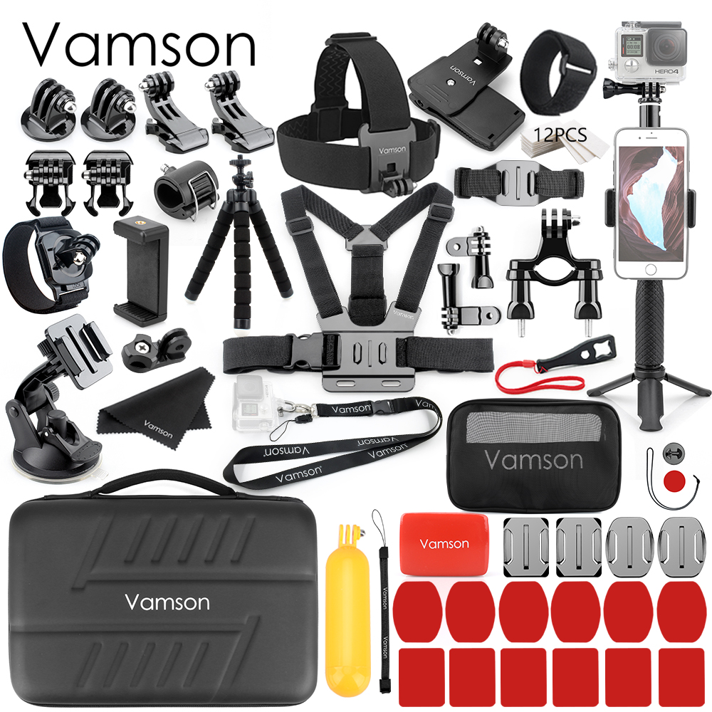 Vamson pour Mijia sport caméra accessoires Kits pour Go pro Hero 7 6 5 pour Xiaomi Yi 4K nouveau sac de mode pour DJI OSMO Action VS82
