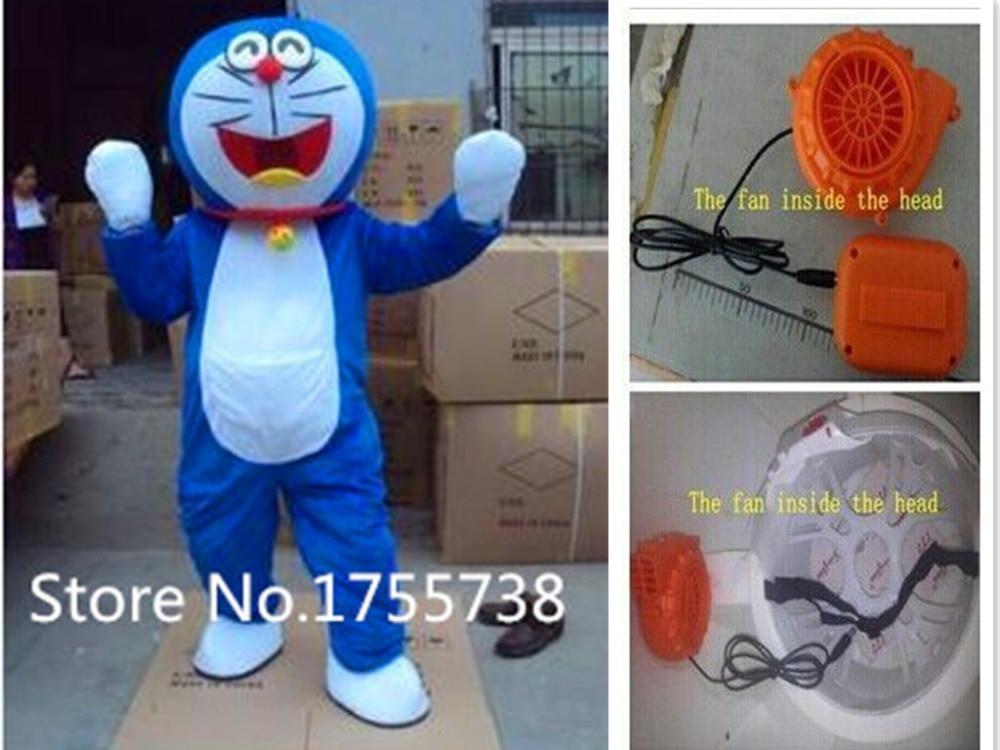 EMS Free Shipping Cartoon Doraemon Mascot Cute Japanese Animation Doraemon Costumes