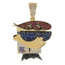 TOPGRILLZ collier pendentif DEXTER pour hommes, collier à pendentif glacé, chaînes CZ, Hip Hop/Punk, couleur or argent, bijoux, cadeaux de fête