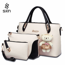 Brand Designer Women's Handbag Messenger Bags set  Ladies's Handbag Shoulder Bags Clutch Bags 3 Kit Sets 6 Color