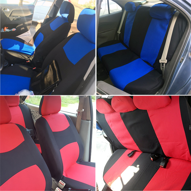 Black Blue Leather Car Seat Covers Cover Set For Fiat Panda 4x4 2005-2010