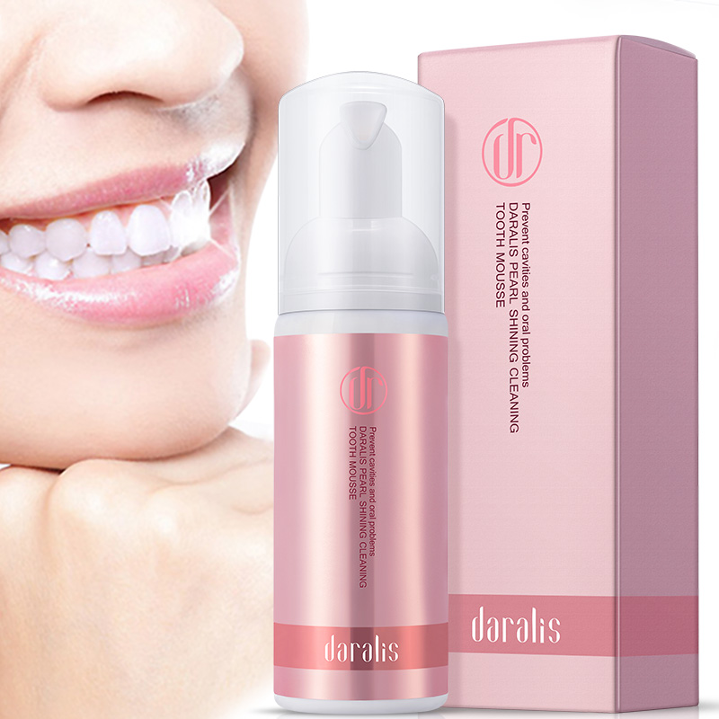 58ml Fresh Shining Tooth-Cleaning Mousse Toothpaste Teeth Whitening Oral Hygiene Removes Plaque Stains Bad Breath Dental Tool