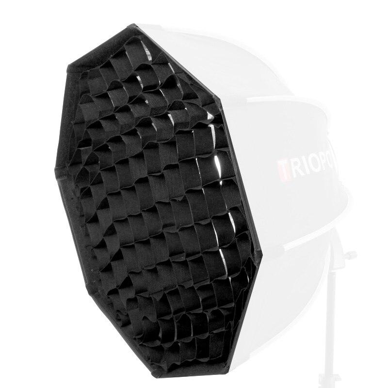 TRIOPO 55cm Octagon paraguas Softbox con rejilla de panal para Godox Flash speedlite fotografía estudio accesorios soft Box - 4