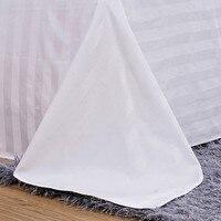 Отель постельные принадлежности белый простыня 100% хлопок сплошной цвет плоский лист