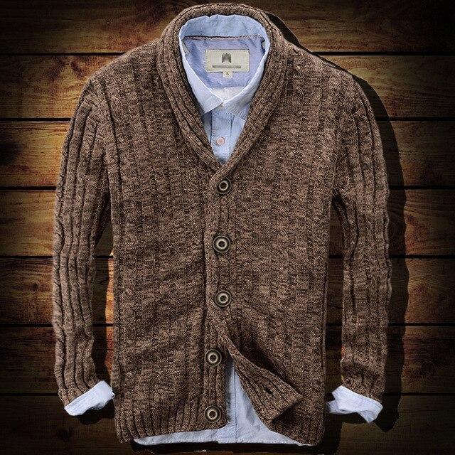 Europa para restaurar antigas formas no outono e inverno xale camisola gola masculino cultivar a moralidade lazer camisola