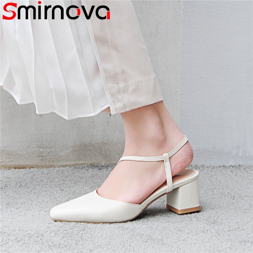Smirnova fashion buckle summer new arrive shoes woman pointed toe elegant prom wedding sandals women genuine leather shoes creativesugar elegant pointed toe woman