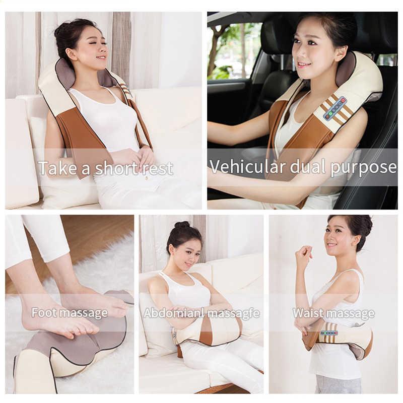 (с подарочной коробкой) JinKaiRui U-образный электрический массажер для спины, шеи, тела с инфракрасным обогревом для автомобиля и дома