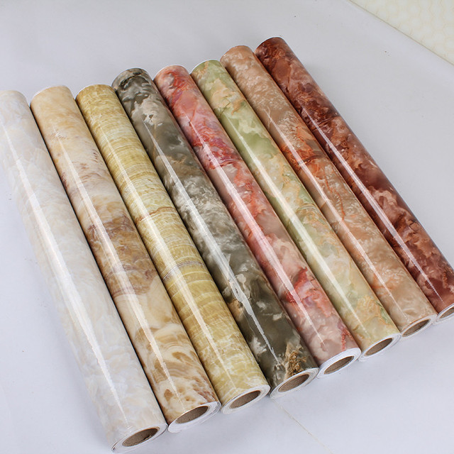 0,6*10 Mt 3D Marmor Wasserdicht Vinyl selbstklebende Tapete ...