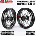 "14"" Inch Dirt Pit bike Off Road Front Rear Wheels Set 2.50-14""3.00-14"" Alloy Rim For KAYO BSE Apollo Xmotos Racing Supermoto"
