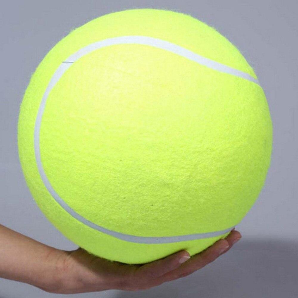 """24 ס""""מ טניס כלב כדור ענק צעצוע לחיות מחמד כלב ללעוס כדור טניס חתימת מגה ג 'מבו צעצוע של ילדים צעצוע כדור לחיות מחמד כלב ספקי"""