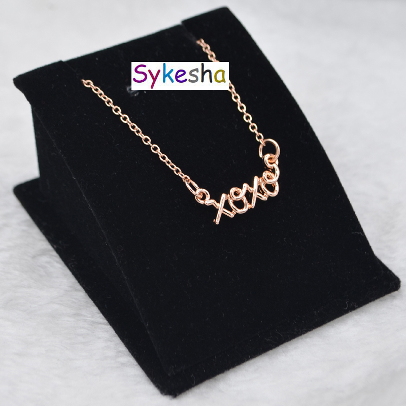 Sykesha 2018 Promotion Gift Monogram Words Necklace XOXO
