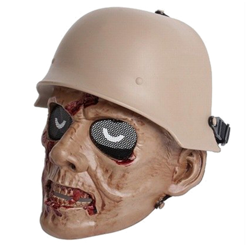 DC13 Zombie Army Military Tactical Airsoft Skull Ghost Full Face Protective Mask CS Wargame Paintball Hunting Halloween Party
