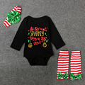 One-Pieces With Legging Headband Birthday Photography Dress Festival Clothing Roupa Infantis Baby Boys Girls Christmas Bodysuits