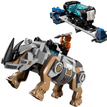 Legoing Rhino Face-Off Black Panther Building Blocks Toy