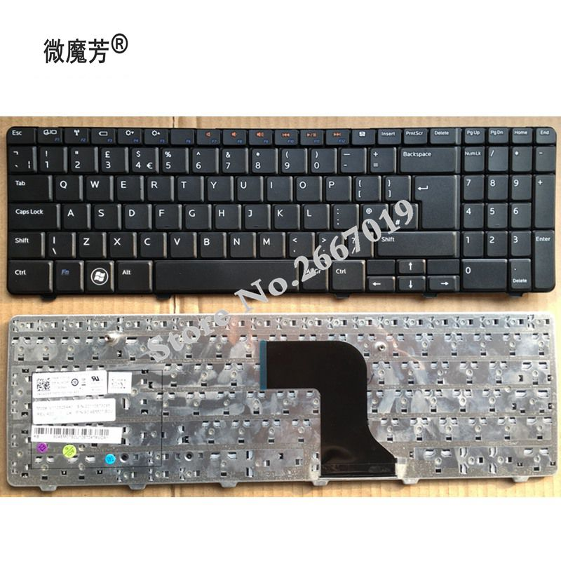 UK NEW Keyboard FOR <font><b>Dell</b></font> for <font><b>Inspiron</b></font> 15 15R 15N 15M <font><b>5010</b></font> N5010 M5010 laptop keyboard image