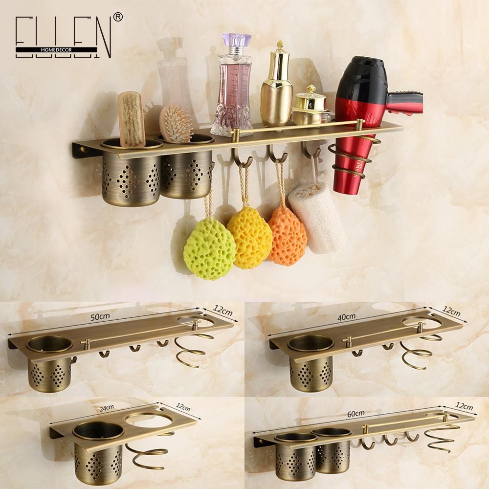 bathroom accessories antique bronze hair dryer holder tumbler holder