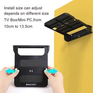Складной кронштейн VONTAR H1 для ТВ-приставок на Android, подставка-держатель для ТВ-приставок, настенные крепления для хранения, полка с одним пространством