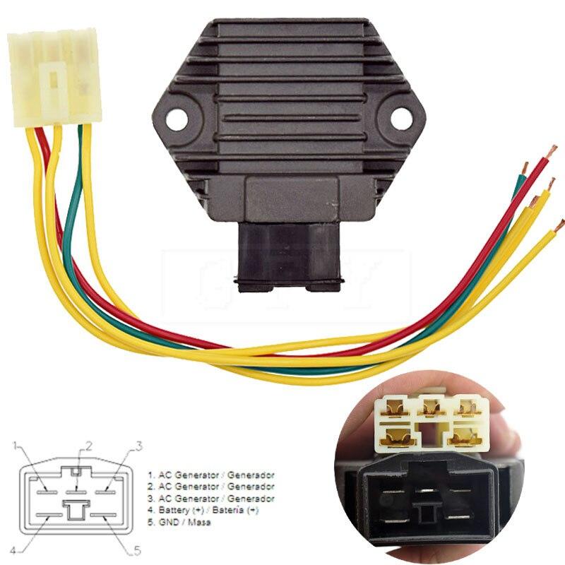 For Honda VTR1000 VFR400 NC30 RVF400 NC35 VFR750 VT250 MC20 VTR250 MC33 NSR250 FES250 PC800 MC18 Voltage Regulator Rectifier