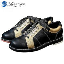 2017 Full Leather Men Bowling Shoes Private men Skidproof Sole Professional Sports Bowling Shoes slip sneakers(China)