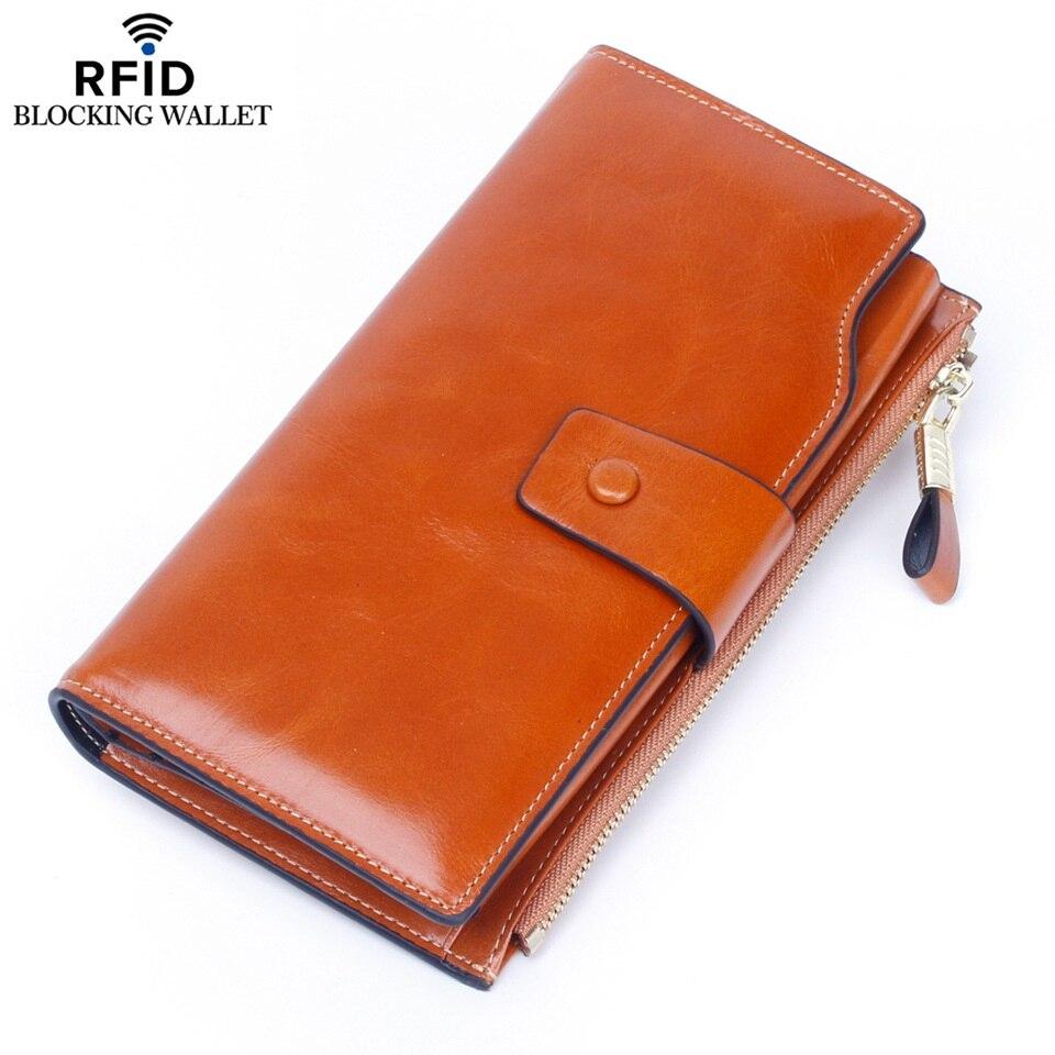 Anti-vol RFID portefeuille en cuir pour femme de Haute qualité multi-carte porte-monnaie pour femme carte titulaire porte-monnaie hommes portefeuilles