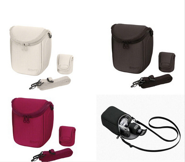 Image 2 - Camera Cover Case Bag for Sony LCS BBF NEX3C NEX5C NEX5N NEX F3 NEX7 Red Grey Black & White color free shipping-in Camera/Video Bags from Consumer Electronics