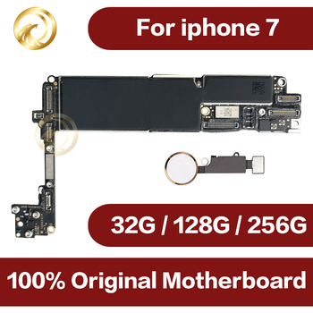 Factory unlocked for iPhone 7 Motherboard With Touch ID,Original for iphone 7 Mainboard with Chips,32GB 128GB 256GB