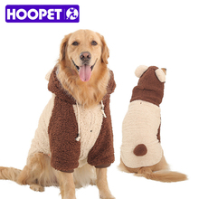 Купить с кэшбэком Pet Dog Winter Warm Fleece Coat Jacket Thermal Dog Hoodies Pajamas Clothing Golden Retriever Dog Clothes for Big Large Dogs