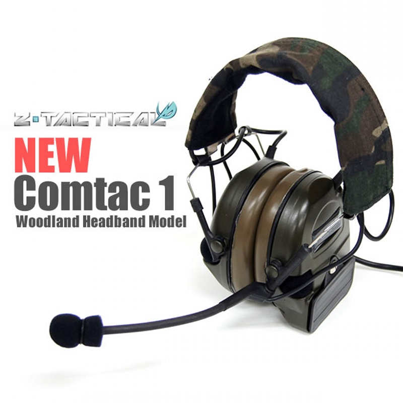 Z Tactical Comtac I Headset Noise Reduction Earphone Military Wargame Hunting Airsoft Headphone Z054 z tactical military headset headphone airsoft radio comtac ipsc od for ptt military radio z 111
