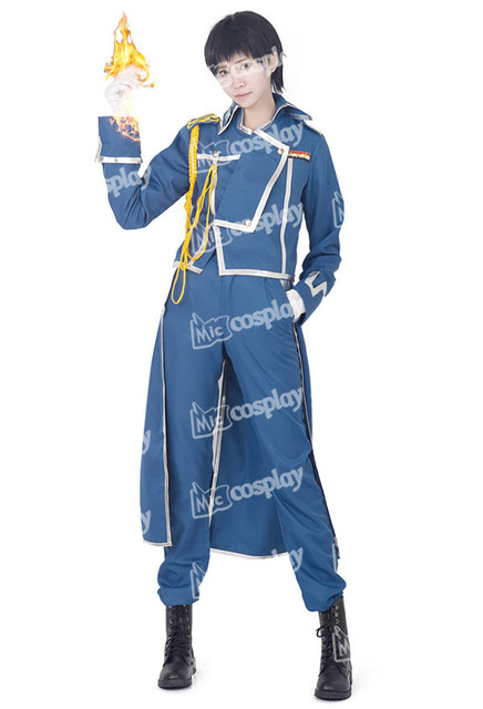 Anime New Hot Deluxe Fullmetal Alchemist Roy Mustang Cosplay Halloween  Party Clothing Costume National Army Military