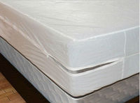 Size 198X183cm Smooth Allerzip Waterproof Mattress Encasement Cover With Zipper Box Spring For Bed Bug
