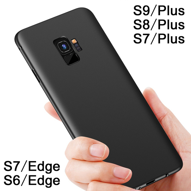 reputable site 7f134 0b55c US $1.59 20% OFF|For Samsung Galaxy S9 Plus Case Silicone Cover for Samsung  Galaxy S8 Plus Case Frosted For Samsung Galaxy S7/S6 Edge S 7 Plus -in ...