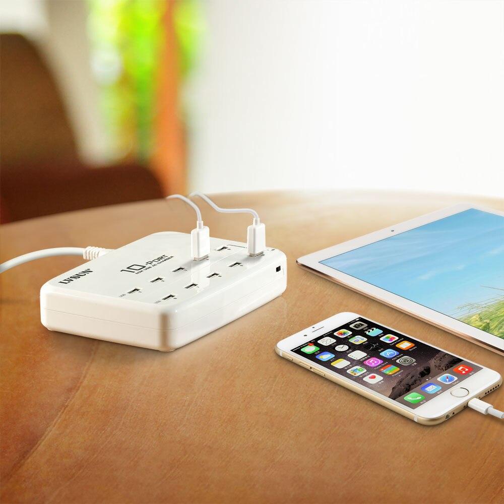 UDOLI שולחני אוניברסלי 10 יציאת USB מטען קיר 5V 2.4 מהיר תחנת טעינת מטען קיר עבור מחשב הלוח iPad/ iPhone 4 4s 5 5s