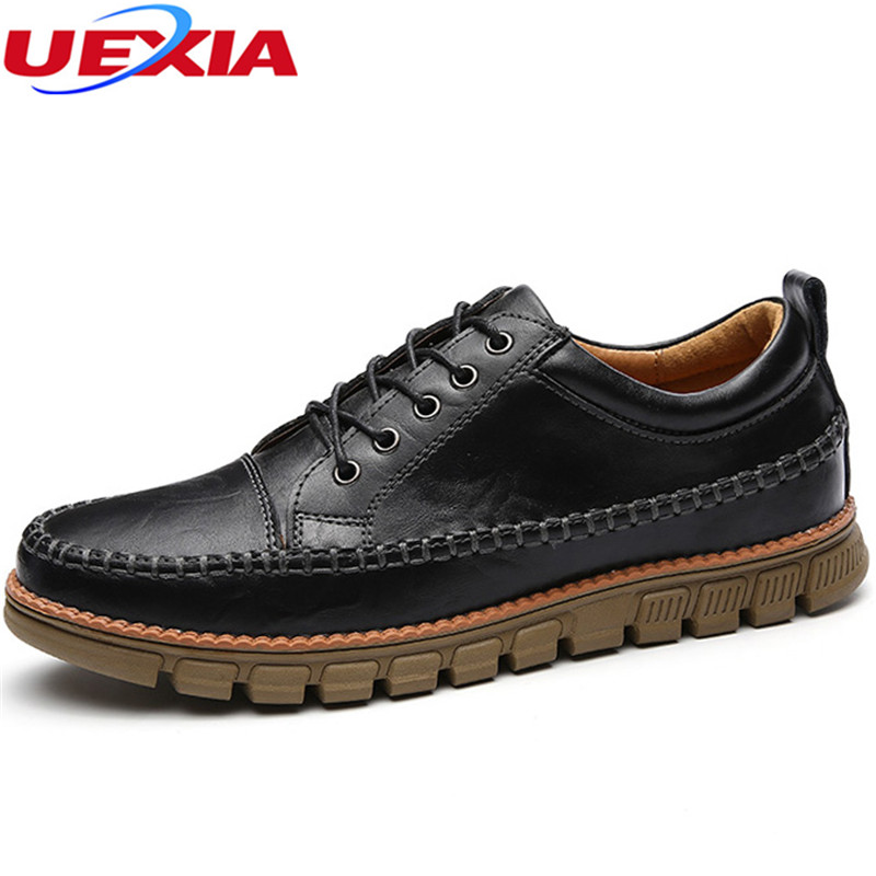 New Casual Leather Shoes Men Autumn Handmade Sewing Moccasins Men Shoes High Quality Slip On Soft Driving Footwear High Quality new fashion handmade genuine leather men casual shoes comfortable driving men s breathable shoes soft moccasins slip on mens