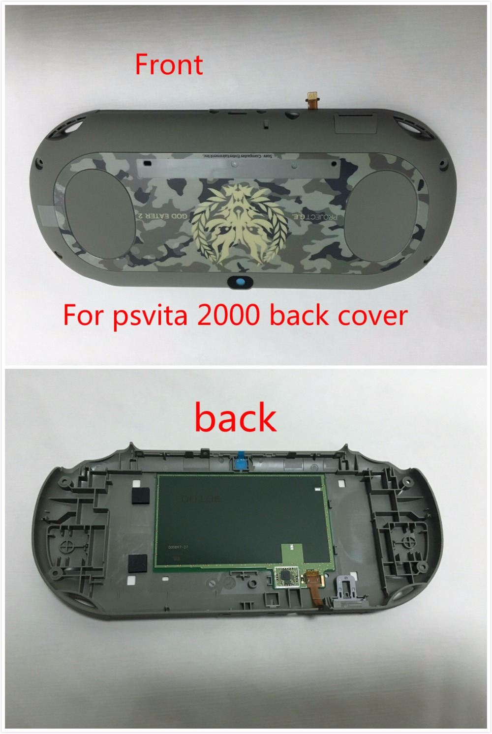 US $28 5 |Wifi Version Touch Screen Panel for PS Vita 2000 PSV2000 Psvita  2000 Back Faceplate back cover Housing Case-in Replacement Parts &
