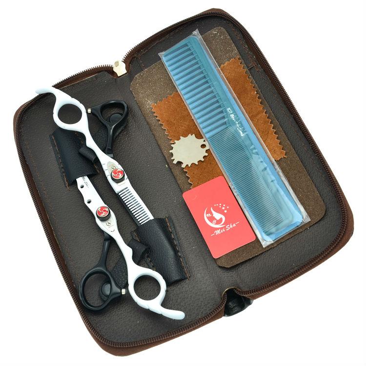 6,0 дюймов Meisha салон магазин стрижки филировочные ножницы комплект парикмахеры вырезать машинки для стрижки волос японский Сталь парикмахе...