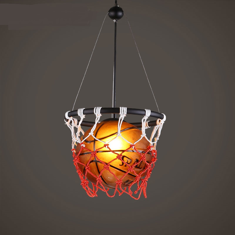 цена American retro creative personality Restaurant Bar stadium sports theme art decoration basketball Pendant Lights ZA онлайн в 2017 году