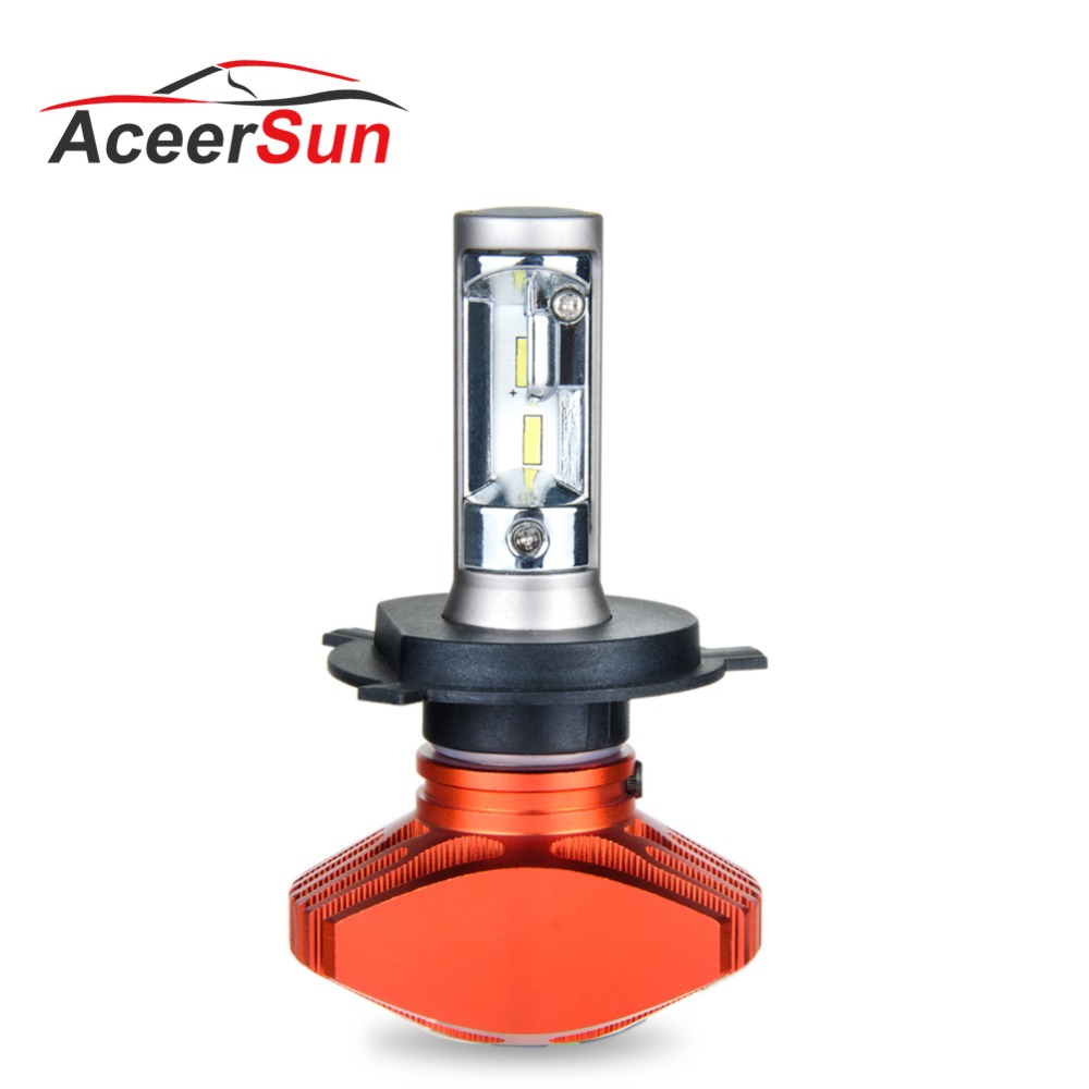 Aceersun 1 PCS LED H4 H7 H8 H11 H9 9005 9006 H1 HB3 HB4 9012 Auto Scheinwerfer Fanless 6500 K CSP Chip 8000LM Auto 12 V 80 W lkw 24 V