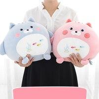 Dễ thương Plush Mèo Đồ Chơi Gối Đồ Chơi Động Vật Ty Thú Nhồi Bông Trẻ Em Đệm Kawaii Anime Trẻ Em Eo Pad Quà Tặng Juguetes 50T0116